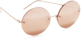 Linda Farrow Luxe Round Rose Gold Plated Sunglasses