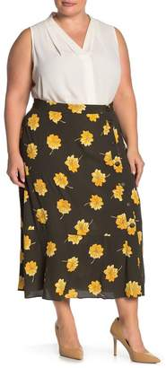 Madewell Side Button Floral Midi Skirt