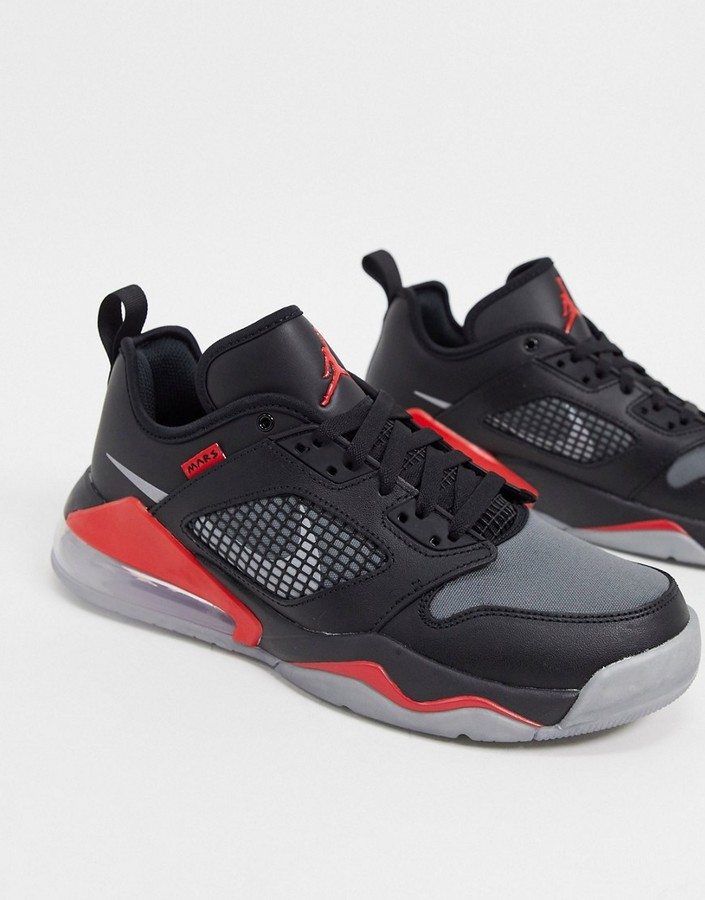 Jordan Nike Mars 270 low trainers in black/metallic silver
