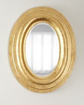 Oval Mirror Frame W/Gold Lea