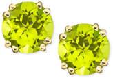 Macy's 14k Gold Peridot Stud Earrings (4 ct. t.w.)