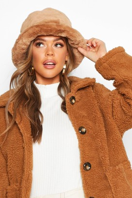 boohoo Faux Fur Bucket Hat