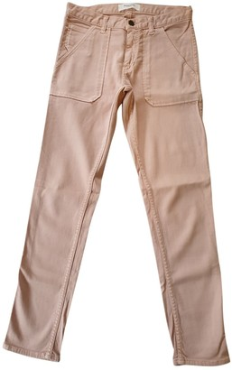 Acquaverde Pink Cotton Trousers for Women