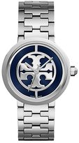 Tory Burch Reva Watch, Stainless Steel/Navy, 36 Mm