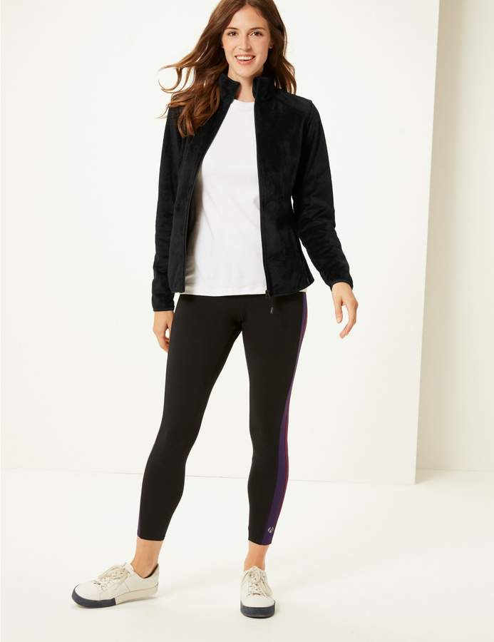 Marks and Spencer Faux Fur Long Sleeve Fleece Jacket