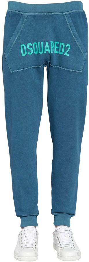 DSQUARED2 Printed Cotton Jersey Sweatpants