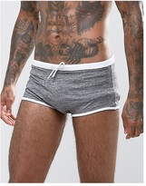 Asos Swim Hipsters In Gray Marl Fabric