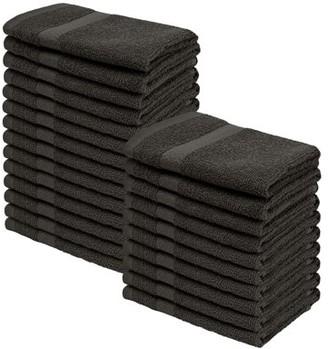 Superior 100-Percent Cotton Eco-Friendly 24-Piece Towel Set - White