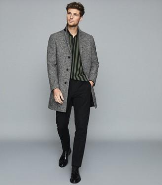 Reiss Kase - Striped Long Sleeved Shirt in Green/black