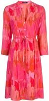 Natori abstract print shirt dress