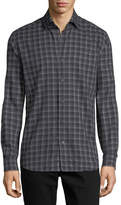 Neiman Marcus Multi-Striped Sport Shirt, Black/Gray