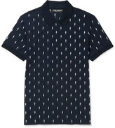 Neil Barrett - Slim-fit Embroidered Cotton-piqué Polo Shirt
