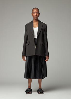 Jil Sander Women's Silk Viscose One Button Blazer Jacket in Black Size 36
