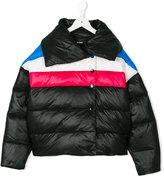 Diesel striped padded jacket
