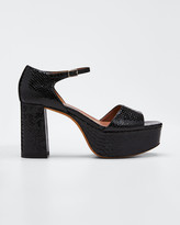 Tabitha Simmons Patton Snake-Print Leather Platform 90mm Sandals