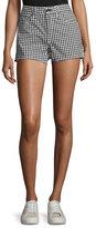 Rag & Bone Justine High-Rise Gingham Shorts