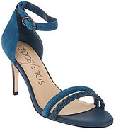 Sole Society As Is Suede Ankle Strap Open-toe Pumps - Sher