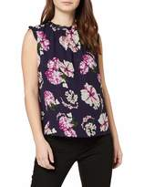 Dorothy Perkins Women's Floral Ruffle Shell top. Blouse