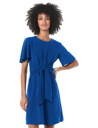 Donna Morgan Women's Tie Front Crepe Dress