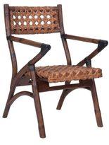 Jeffan Decorative Brown Vintage Folding Arm Chair