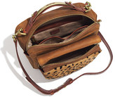 Madewell The Eaton Shoulder Bag in Printed Calf Hair