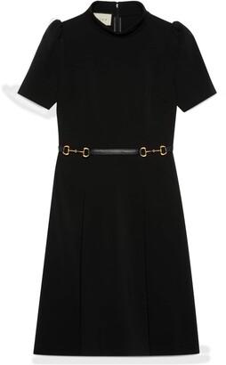Gucci Viscose dress with Horsebit