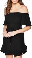 Bardot Corset Belted Dress