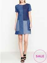 J Brand Luna Patchwork Denim Dress