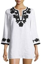 Tory Burch Applique-Trim Tunic, New Ivory