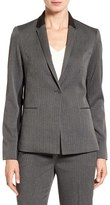 T Tahari Women's 'Nima' Colorblock Herringbone One-Button Jacket