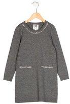Milly Minis Girls' Crystal-Embellished Rib Knit Dress