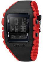 Reebok Workout Men's Quartz Watch with Black Dial Digital Display and Multicolour Silicone Strap RF-WZ1-G9-PBIR-BR