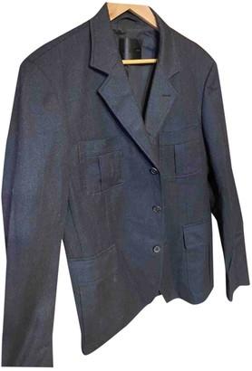 Bally Navy Wool Jackets