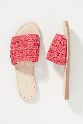 Anthropologie Pia Crocheted Slide Sandals By in Pink Size 36