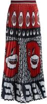 Stella Jean Kanga-print pleated crepe skirt