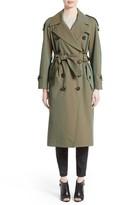 Burberry Women's Tropical Gabardine Oversized Trench Coat