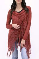 Grace & Lace Fringe Knit Cardigan