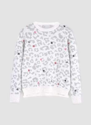 Mint Velvet Leopard Star Embroidery Jumper