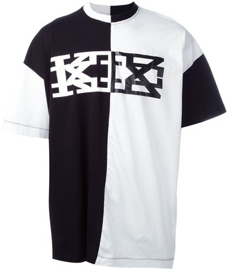 Kokon To Zai block colour T-shirt