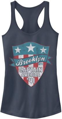 Licensed Character Juniors' Marvel Captain America Brooklyn Shield Logo Tank