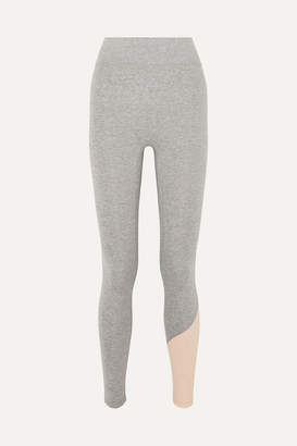 We Over Me - Inversion Color-block Stretch-jersey Leggings - Gray