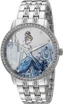 Disney Cinderella Women's W002516 Cinderella Analog Display Analog Quartz Silver Watch