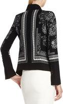BCBGMAXAZRIA Abree Relaxed Scarf-Print Jacket