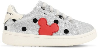 Mickey Mouse Glittered Slip-on Sneakers