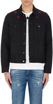 Givenchy Men's Star-Embroidered Denim Trucker Jacket