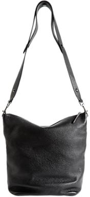 Jigsaw Cameron Leather Hobo Bag, Black