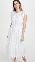 Rebecca Taylor Sleeveless Embroidered Voile Dress