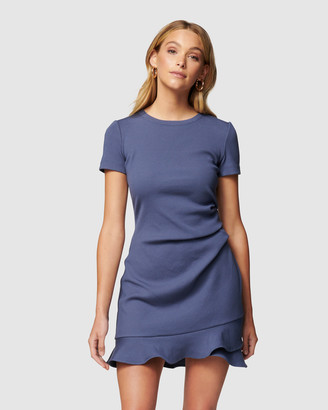 Forever New Petite - Women's Mini Dresses - Annie Petite Rib Frill Dress - Size One Size, 10 at The Iconic