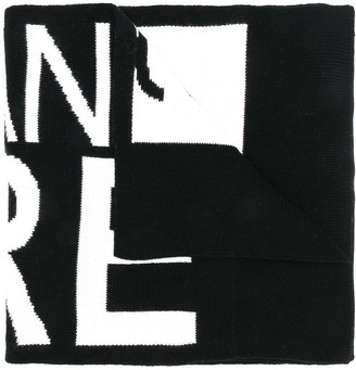 Versace Logo Intarsia Scarf