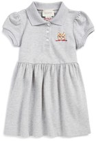 Gucci Toddler Girl's Cat Embroidered Polo Dress